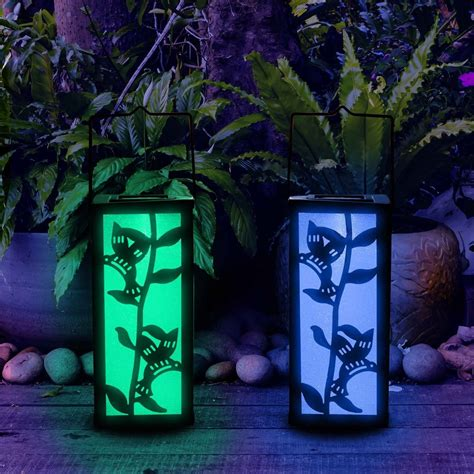 Solar Color solar color changing hummingbird lantern 50 my