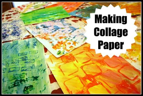 How To Make A Collage With Paper - collage with toddlers and