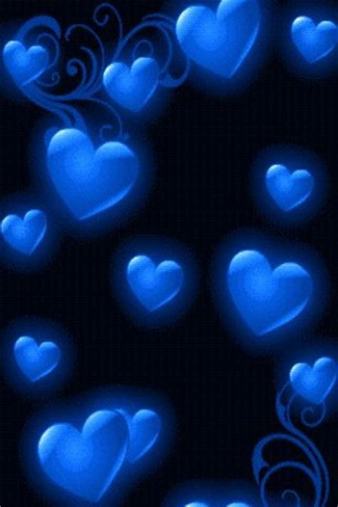 wallpaper blue heart pictures download blue heart rain live wallpaper for android appszoom