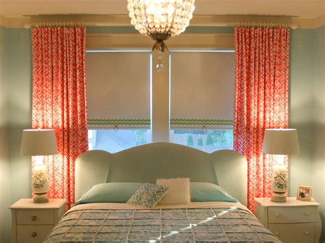 coral curtains for bedroom photos hgtv