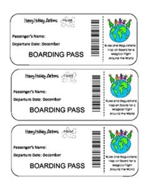 Activity Pass Card Template by 1000 Images About Preschool Around The World Crafts On