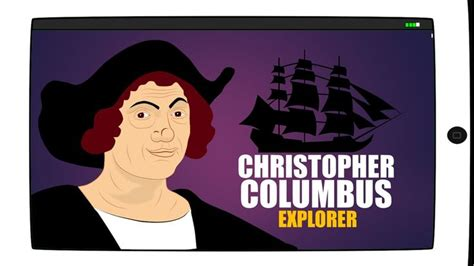 christopher columbus animated biography christiphor columbus day for children cartoon educational
