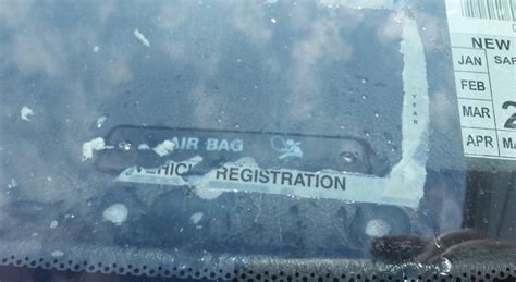 Remove Registration Sticker