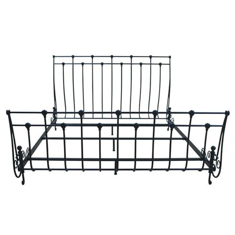 Sleigh Bed Frame Parts Bello King Or Size Steel Frame Sleigh Bed Black B551