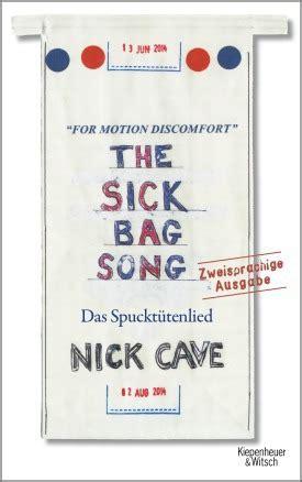 the sick bag song 1782117938 the sick bag song nick cave eike sch 246 nfeld kiepenheuer witsch