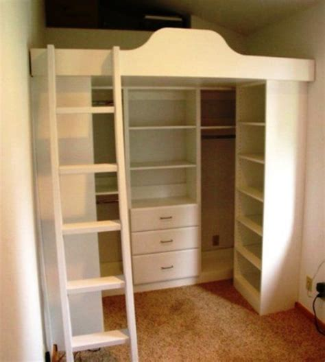 Loft Beds With Closet Underneath by 25 Best Ideas About Loft Closet On Loft Ideas