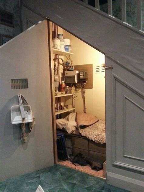 bedroom under the stairs pin by claire curtis on harry potter bedroom pinterest