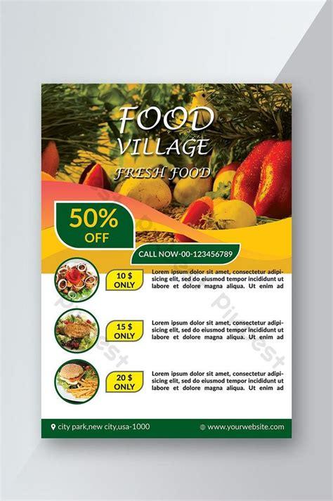 restaurant fresh fruits  vegetables flyer psd