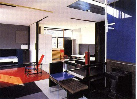 schroder house interior rietveld schr 246 der house interior room