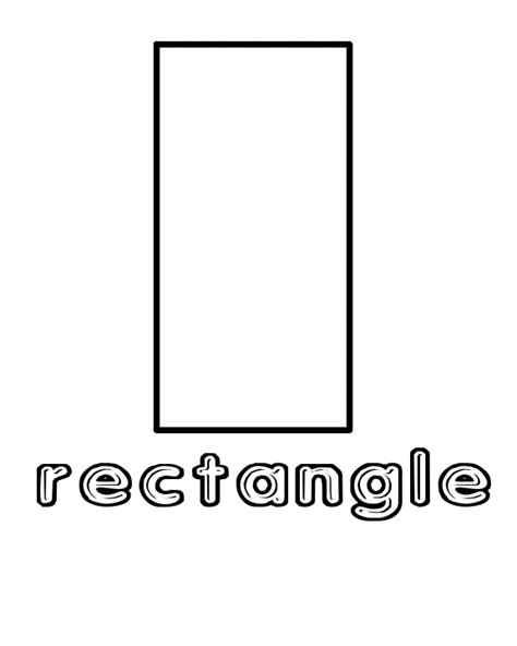 coloring pages with shapes for preschool free coloring pages of shape rectangle