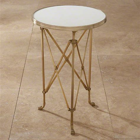 global views end tables global views directoire table brass white marble