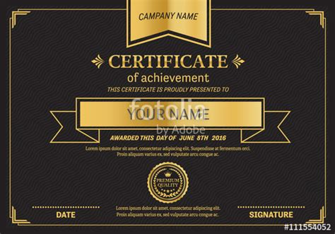 illustrator certificate template stock certificate template illustrator image collections