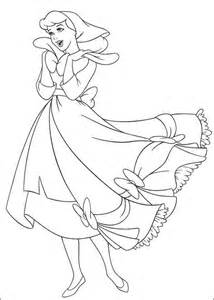 free printable cinderella coloring pages kids