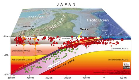 earthquakes diagram mw 6 9 earthquake strikes the coast of fukushima
