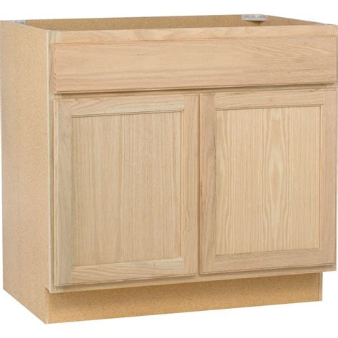 unfinished oak kitchen cabinets assembled 36x34 5x24 in base kitchen cabinet in unfinished oak b36ohd the home depot