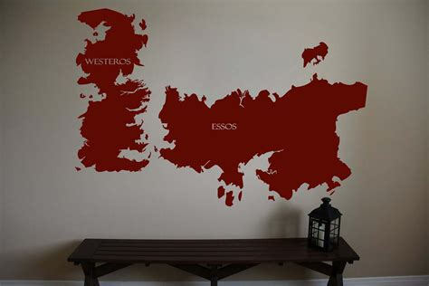 game of thrones decor game of thrones world map westeros essos and 50 similar items