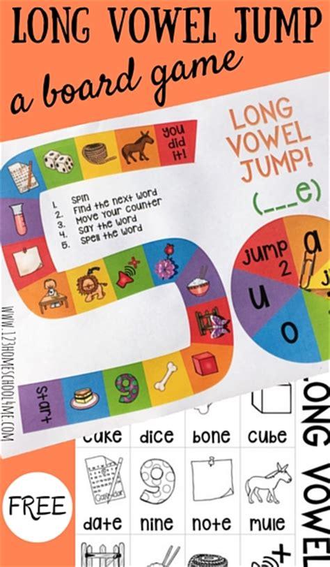 printable vowel games free long vowel jump board game