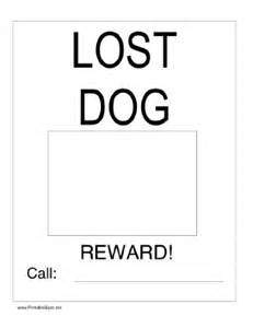 lost template printable lost with picture sign