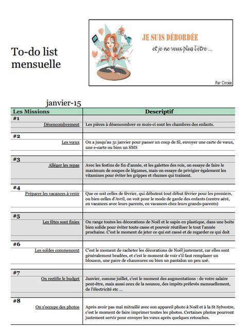 To Do List Demenagement by To Do List De Janvier 2015 Je Suis D 233 Bord 233 E