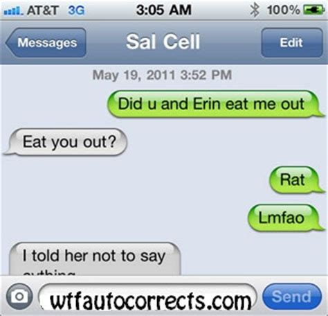 Who Me Eat Your Out Ungaro by Ratted Out Auto Corrects