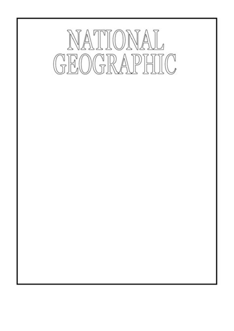 sample national geographic cover template printable