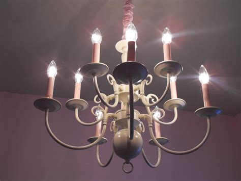 Brass Chandelier Makeover A Of This A Of That Chandelier Makeover