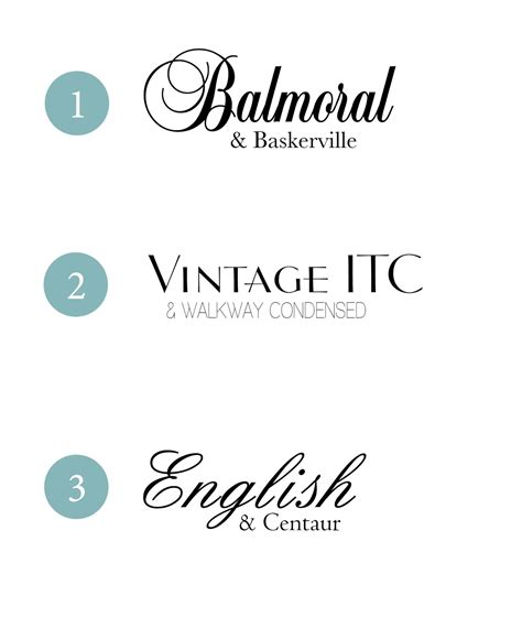 Wedding Fonts by Design Fixation Typeface Tuesday Wedding Font Combinations