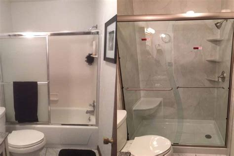 Before And After Shower by Tub To Shower Conversion Renew Home Center