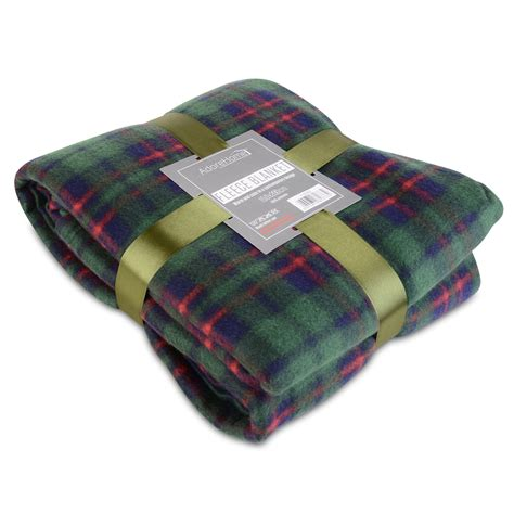 warme decke soft warm single tartan check sofa throw bed fleece
