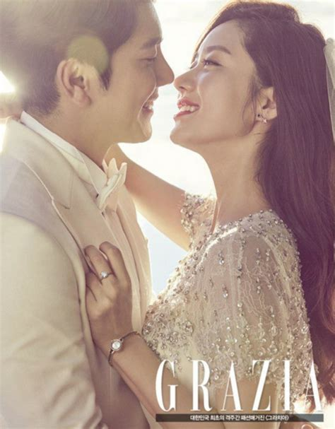 wedding pictorial han groo has a wedding pictorial with grazia soompi
