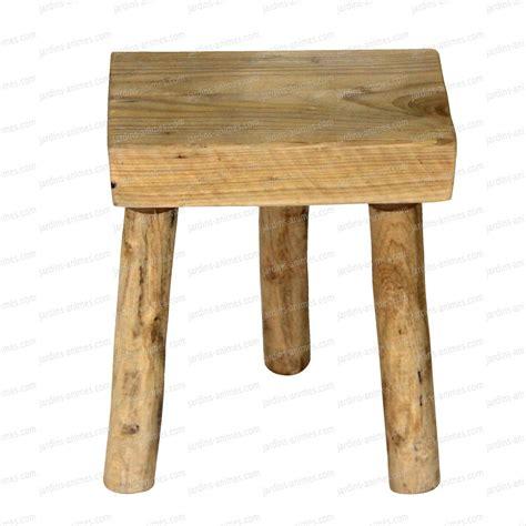 Pied Tabouret tabouret en bois 3 pieds 33cm x 22cm mobilier de jardin