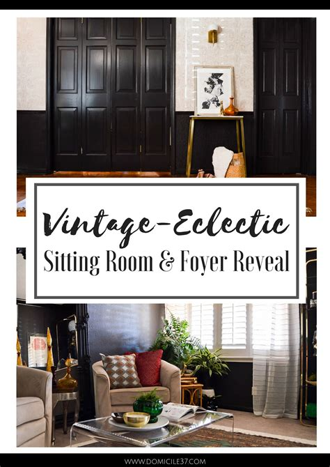 vintage foyer vintage eclectic foyer and sitting room reveal domicile 37