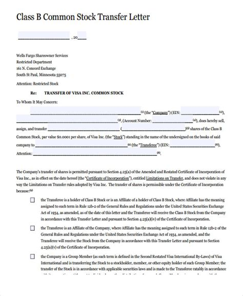 20 Transfer Letter Templates In Pdf Free Premium Templates Assignment Of Shares Template