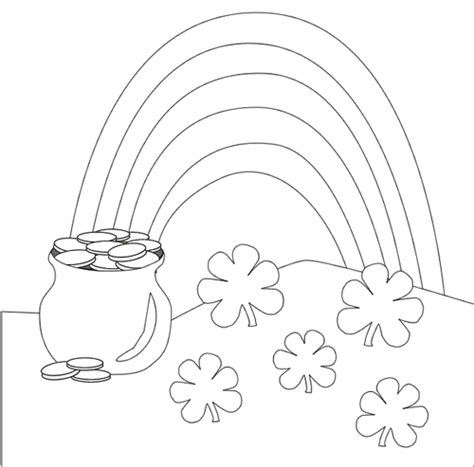 rainbow coloring page cutouts 5 free st patrick s day printables your kids will love
