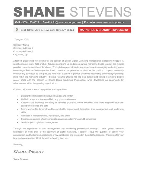 Cover Letter For Creative The Shane Cover Letter Creative Resume Template