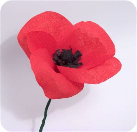 Paper Poppies - perlillapets tutorial crepe paper poppy