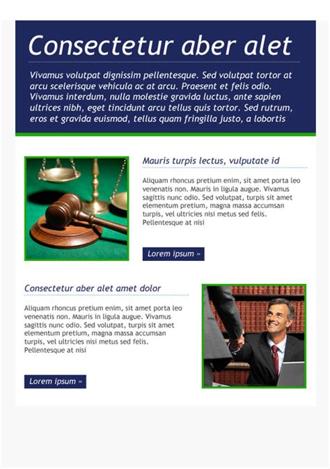 legal services newsletter templates email marketing