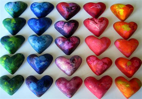 crayon hearts crayon valentines dianne faw