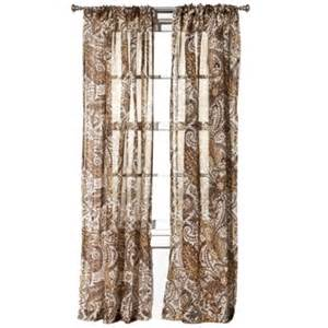 Paisley Window Curtains Target Home Linen Paisley Window Panel Gold 54x84 By Target Home