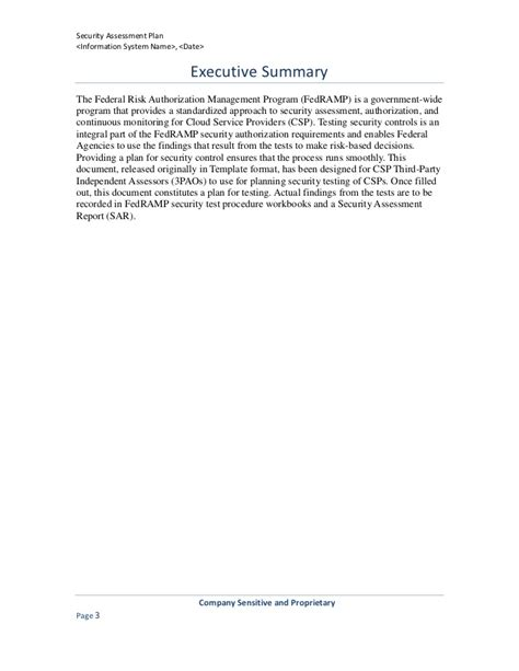Security Assessment Plan Template Third Risk Management Policy Template