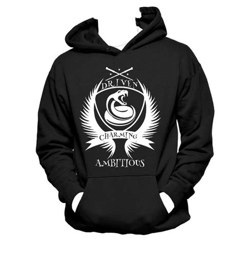 Harry Potter Sweater Black harry potter slytherin crest black hoodies sweater custom