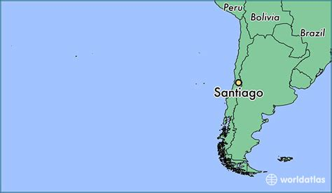 santiago chile on world map where is santiago chile where is santiago chile