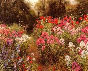 Paintings Of Flower Gardens Paintings Of 4 A Flower Garden Landscape Louis Aston For Sale By Artists