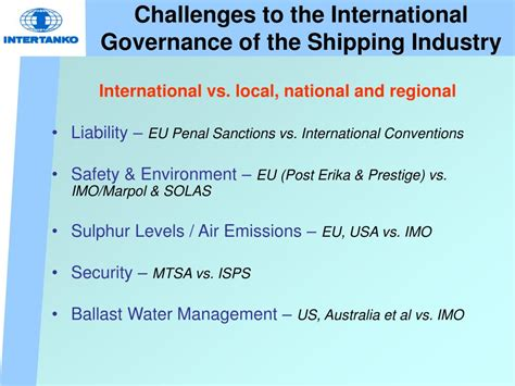 shipping industry challenges ppt intertanko intercargo joint technical seminar