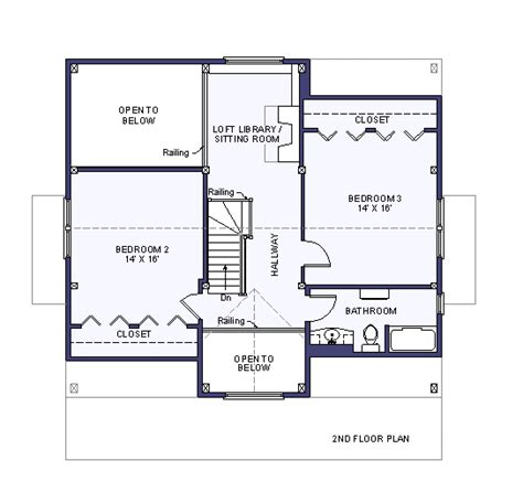 2 floor house plans second floor plan
