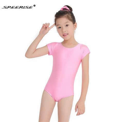 girls shiny dance leotards speerise girls cap short sleeve leotard ballet dance