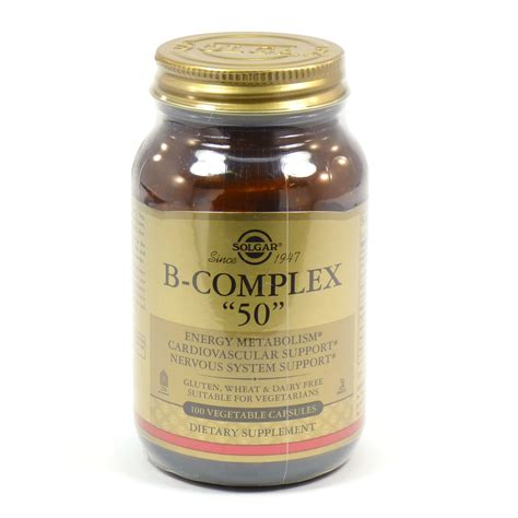 b complex vegetables b complex 50 vegetable capsules by solgar 100 count