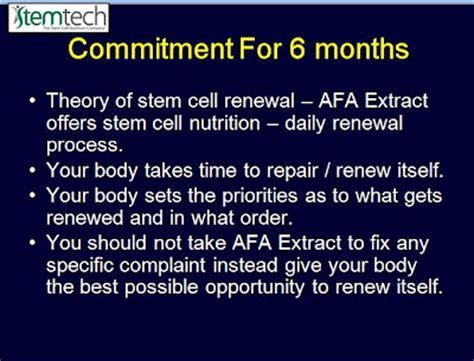 m stem supplement afa for aphanizomenon flos aquae is in stem cell