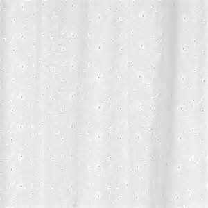 jojo white eyelet fabric shower curtain ebay