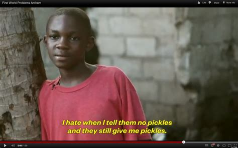 Poor African Kid Meme - first world problems read by third world kids ad caign